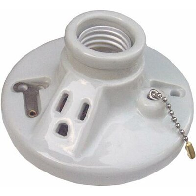 Porcelain Receptacles Pull Chain with Outlet Screw Terminals