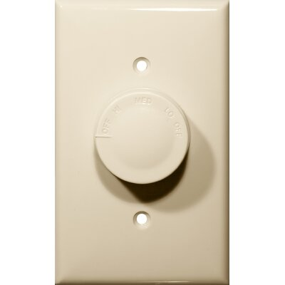 Rotary Fan Single Pole 3 Speed Controls in Ivory