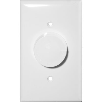 Rotary Fan Single Pole 3 Speed Controls in White