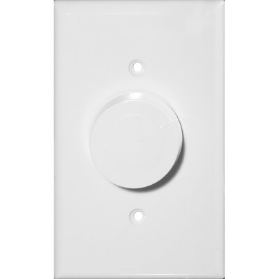 Rotary Single Pole Dimmer in White