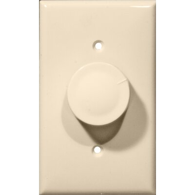 Rotary Single Pole Dimmer in Almond