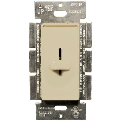 Slide Single Pole Dimmer in Ivory
