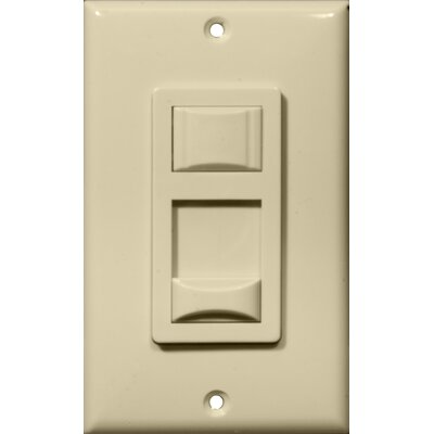 Fluorescent Single Pole Dimmer in Ivory