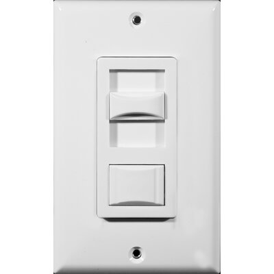 Fluorescent 3-Way Dimmer in White