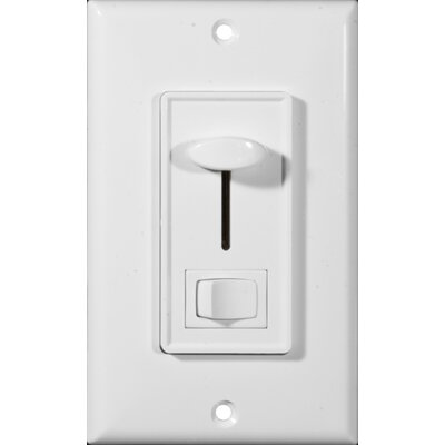 Slide Single Pole Dimmer with Switch in White