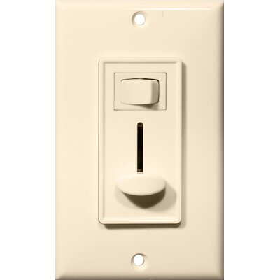 Slide Single Pole Dimmer with Switch in Almond