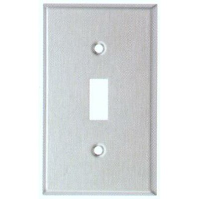 Gang and Toggle Switch Metal Wall Plates in Stainless (Set of 6)