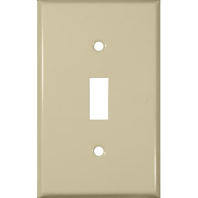 Gang and Toggle Switch Metal Wall Plates in Ivory (Set of 6)