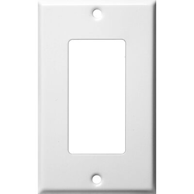 Gang Decorator and GFCI Metal Wall Plates in White