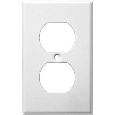 Gang and Duplex Receptacle Metal Wall Plates in White