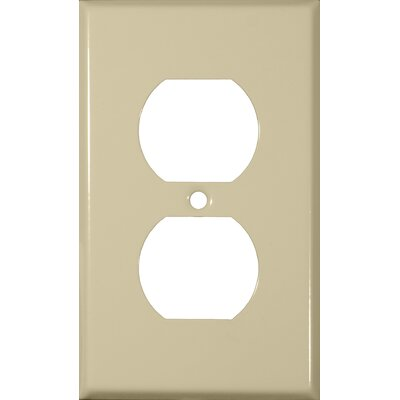 Gang and Duplex Receptacle Metal Wall Plates in Ivory