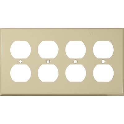Four Gang and Duplex Receptacle Metal Wall Plates in Ivory