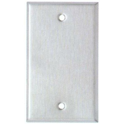 Gang and Blank Metal Wall Plates in Stainless (Set of 6)