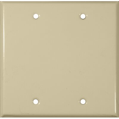 Two Gang and Blank Metal Wall Plates in Ivory