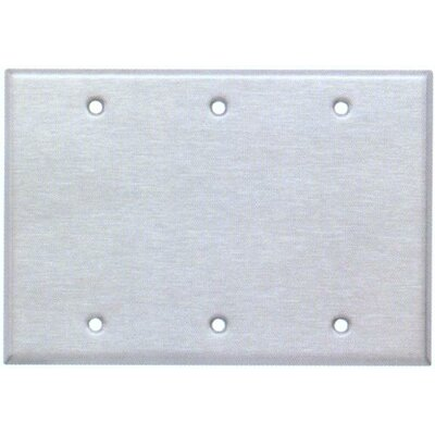 Image of Three Gang and Blank Metal Wall Plates in Stainless