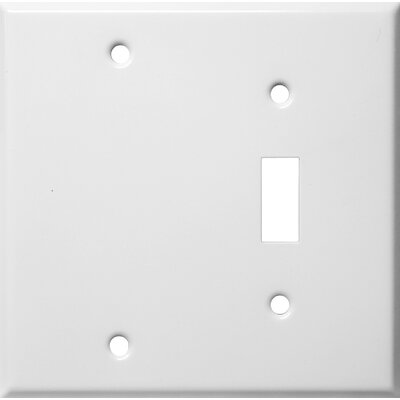 Two Gang / Toggle and Blank Metal Wall Plates in White