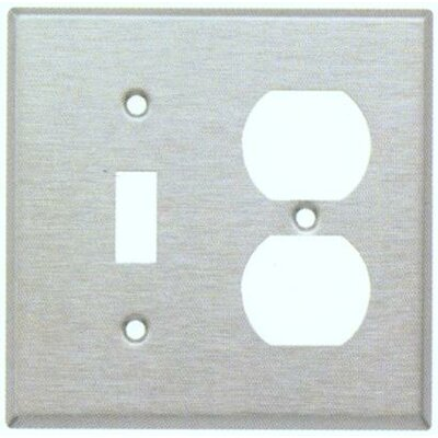 Two Gang / Duplex and Toggle Metal Wall Plates in Stainless