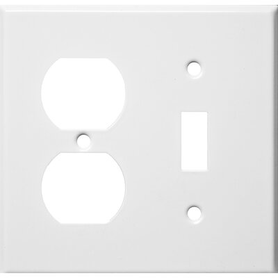 Two Gang / Duplex and Toggle Metal Wall Plates in White (Set of 4)