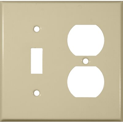 Two Gang / Duplex and Toggle Metal Wall Plates in Ivory
