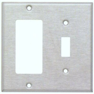 Two Gang / Toggle and GFCI Metal Wall Plates in Stainless
