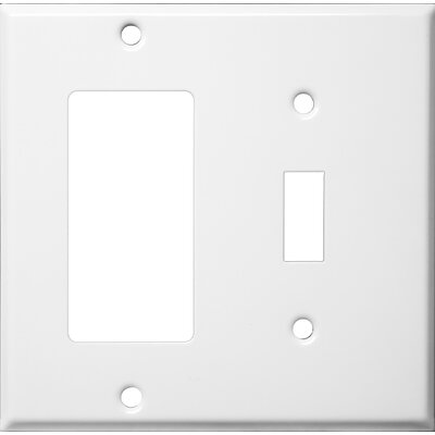 Two Gang / Toggle and GFCI Metal Wall Plates in White