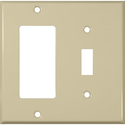 Two Gang / Toggle and GFCI Metal Wall Plates in Ivory