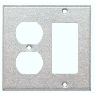 Two Gang / GFCI and Duplex Metal Wall Plates in Stainless
