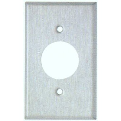 "Image of 1.41"" Gang Single Receptacle Metal Wall Plates in Stainless"