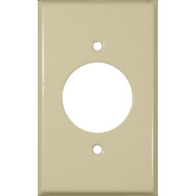 1.62 Gang Single Receptacle Metal Wall Plates in Ivory