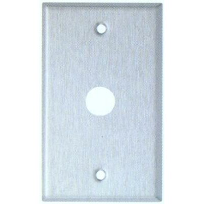 0.63 Gang Cable Metal Wall Plates in Stainless (Set of 6)