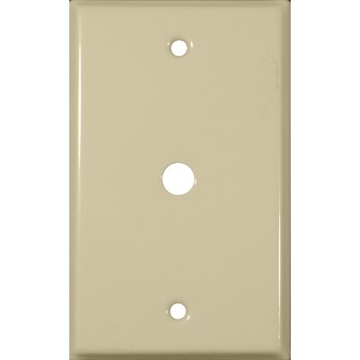0.63 Gang Cable Metal Wall Plates in Ivory