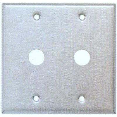 0.63 Two Gang Cable Metal Wall Plates in Stainless