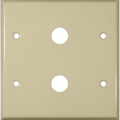 0.41 Two Gang Cable Metal Wall Plates in Ivory (Set of 4)