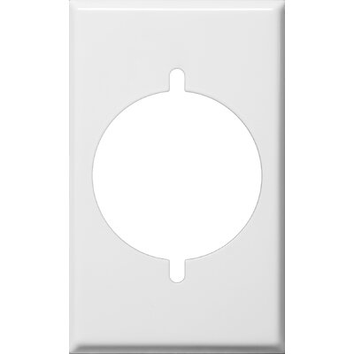 Gang Range and Dryer Metal Wall Plates in White (Set of 6)