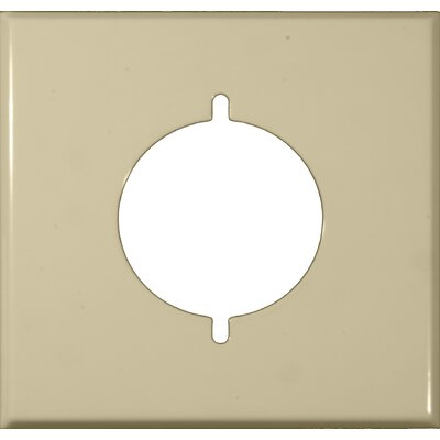 Two Gang Range and Dryer Metal Wall Plates in Ivory