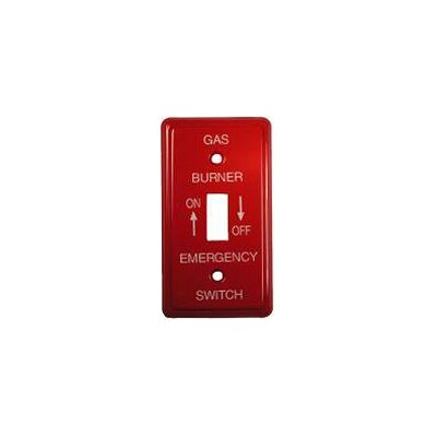 Utility Oil Emergency Metal Switch Plates (Set of 6)