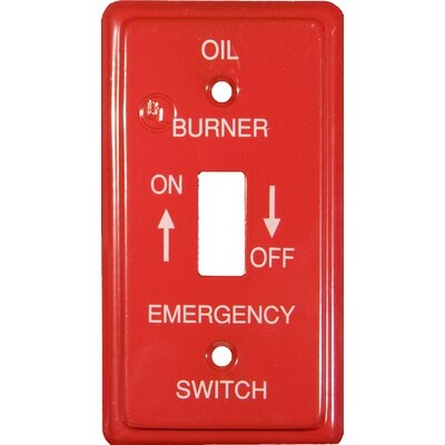 Utility Gas Emergency Metal Switch Plates (Set of 6)