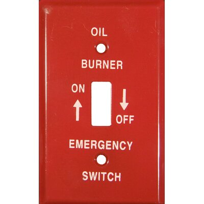 1 Gang Gas Emergency Metal Switch Plates (Set of 5)