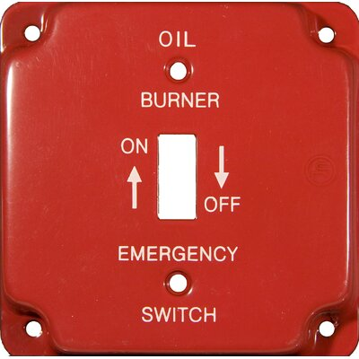 4 Raised Gas Emergency Metal Switch Plates