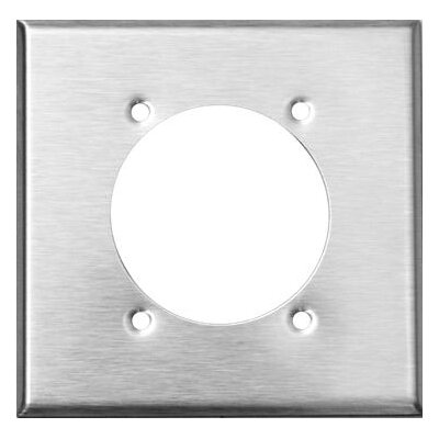 2 Gang Power Outlet Stainless Steel Metal Wall Plates