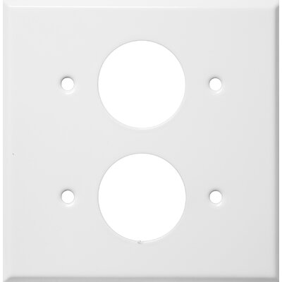 2 Gang 2 Single Receptacles Stainless Steel Metal Wall Plates in White