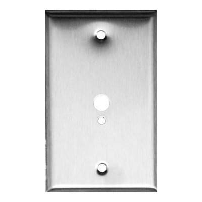 1 Gang 1 Phone 1 Cable Stainless Steel Metal Wall Plates (Set of 5)