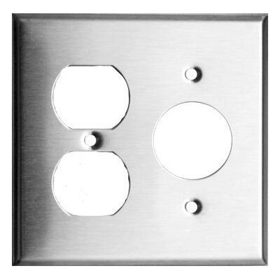 2 Gang 1 Duplex 1 Single Stainless Steel Metal Wall Plates
