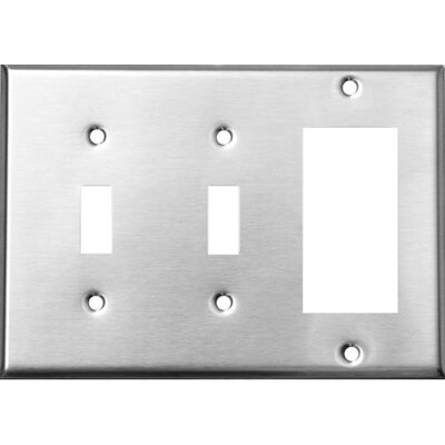 3 Gang 2 Toggle 1 GFCI Stainless Steel Metal Wall Plates