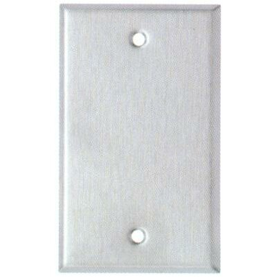 Midsize 1 Gang Blank Stainless Steel Metal Wall Plates (Set of 4)