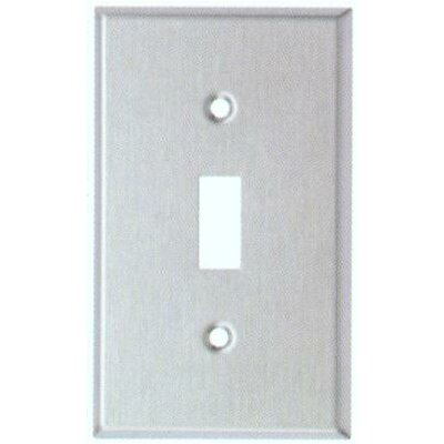 Midsize 1 Gang Stainless Steel Metal Wall Plates Toggle Switch
