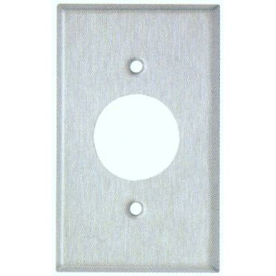 Midsize 1 Gang Single Receptacle Stainless Steel Metal Wall Plates