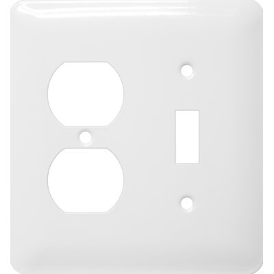 Stainless Steel Metal Wall Plates in White (Set of 3)