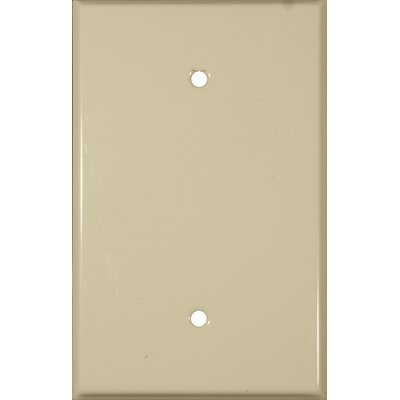Oversize Blank 1 Gang Stainless Steel Metal Wall Plates in Ivory (Set of 3)