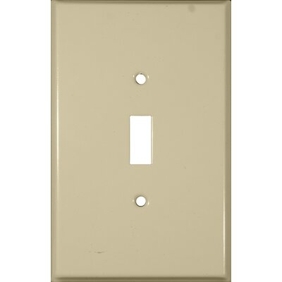 Oversize Toggle Switch 1 Gang Stainless Steel Metal Wall Plates in Ivory (Set of 3)